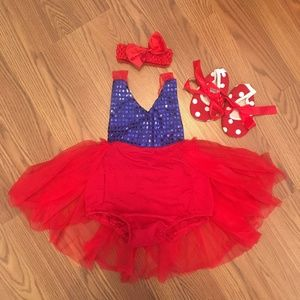 Other - Snow White Toddler Costume Halter Tutu Romper